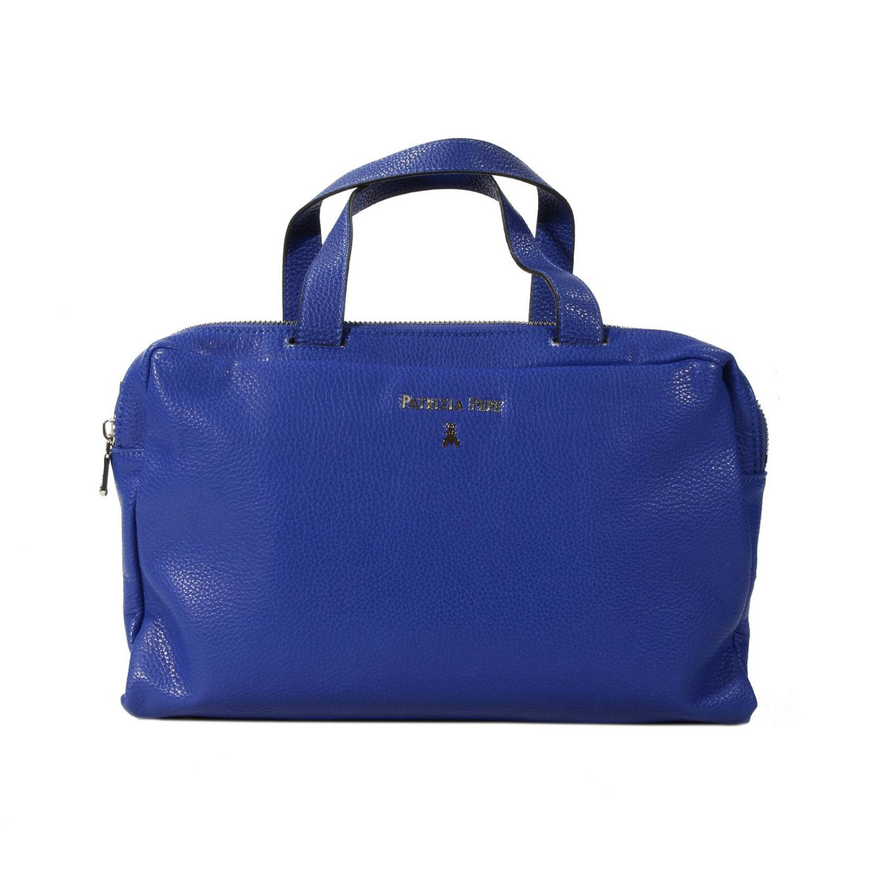 Patrizia Pepe Handbag Bowling Bag Two Handles Leather in Blue