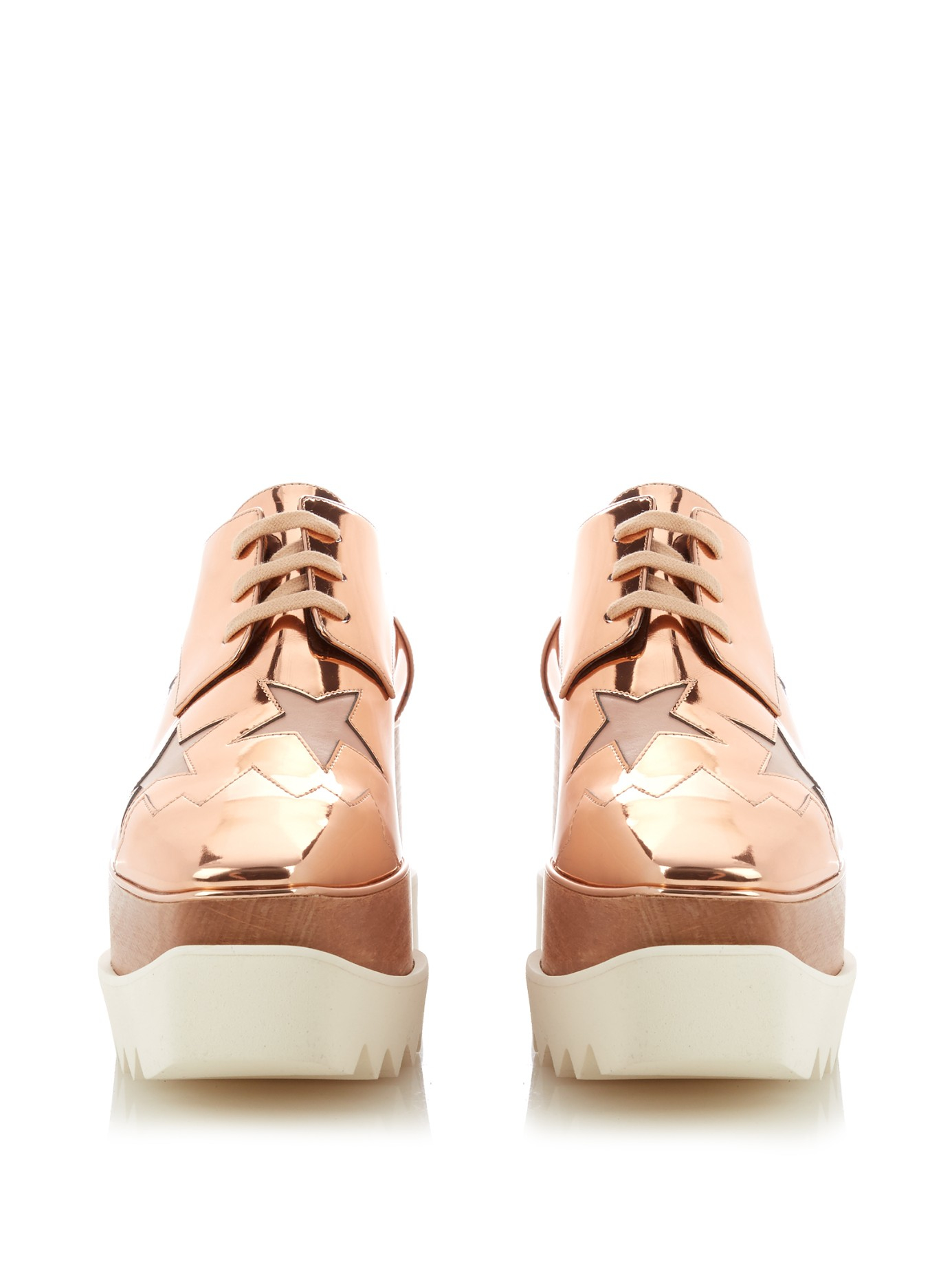 ea3ad459892 Stella McCartney Elyse Faux-Leather Platform Shoes in Pink - Lyst