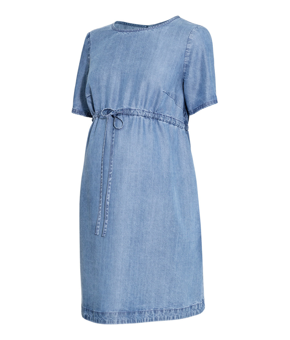Mama Lyocell Dress Blue Lyst