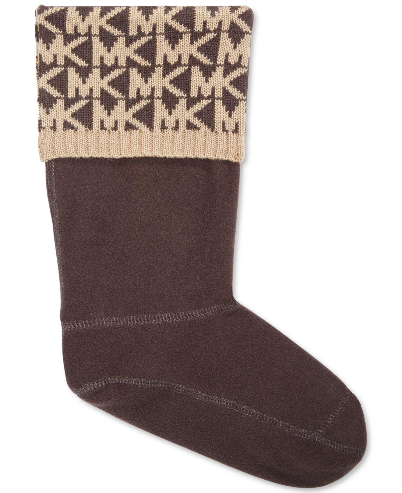 ef2a6702f4ae6e Lyst Michael Kors Mk Rain Boots Sock Liner In Black