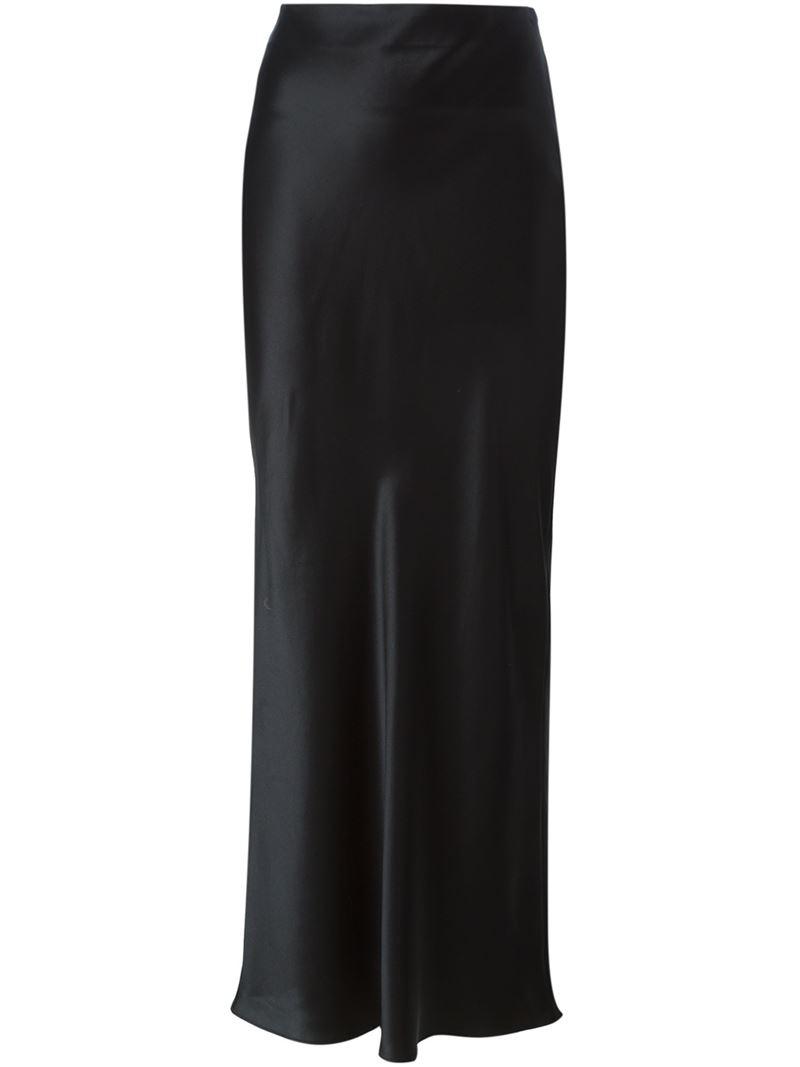 Lyst - Joseph Long Straight Skirt in Black