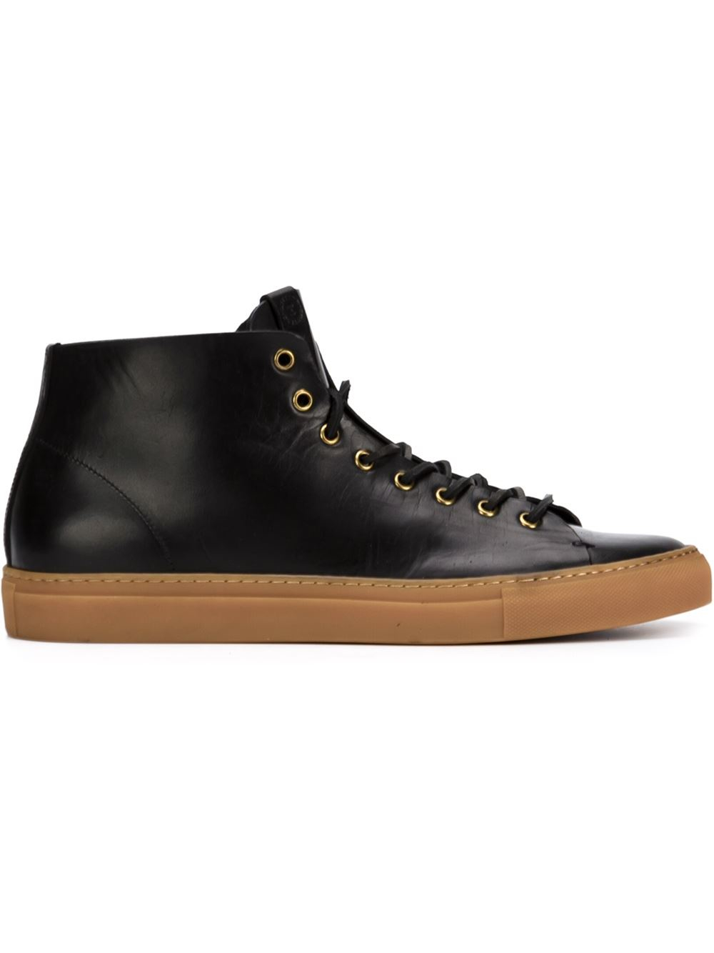 buttero tanino hi top sneakers in black for lyst