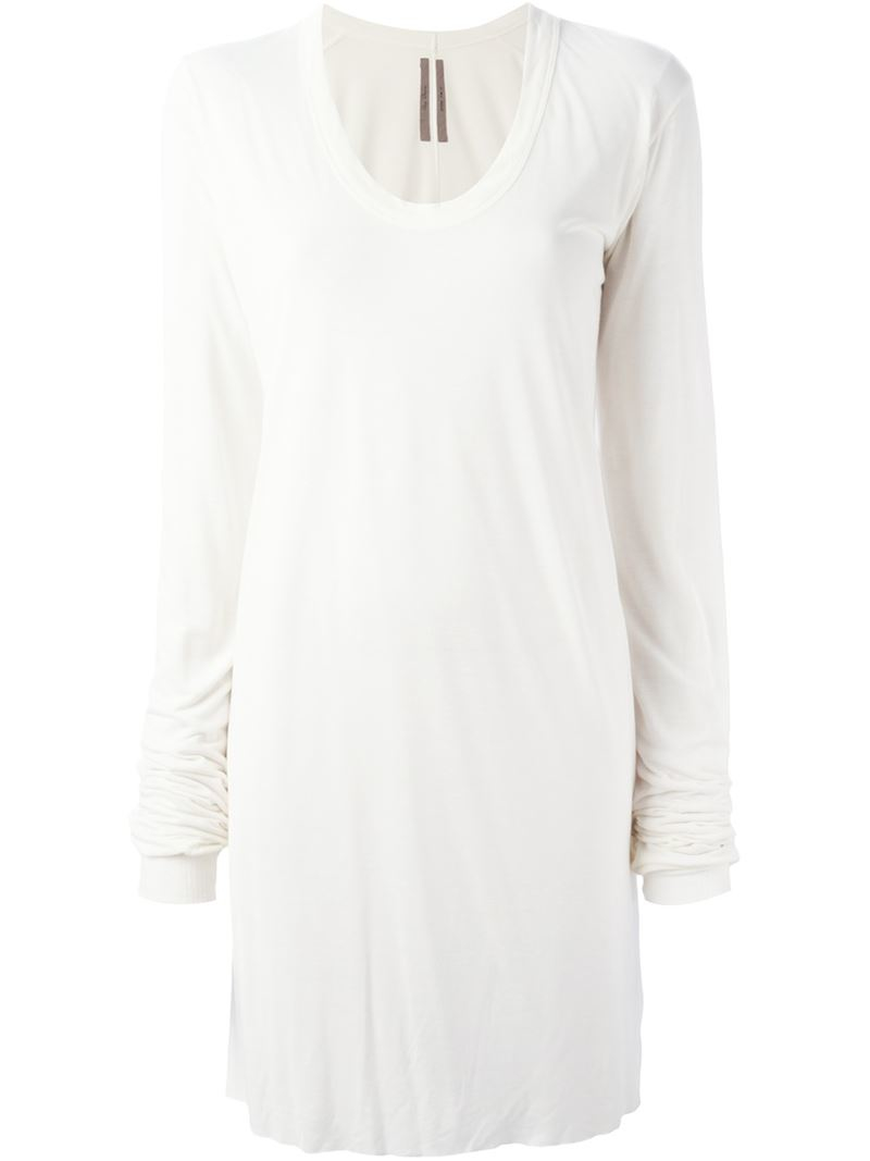 Lyst Rick Owens Scoop Neck T Shirt In White