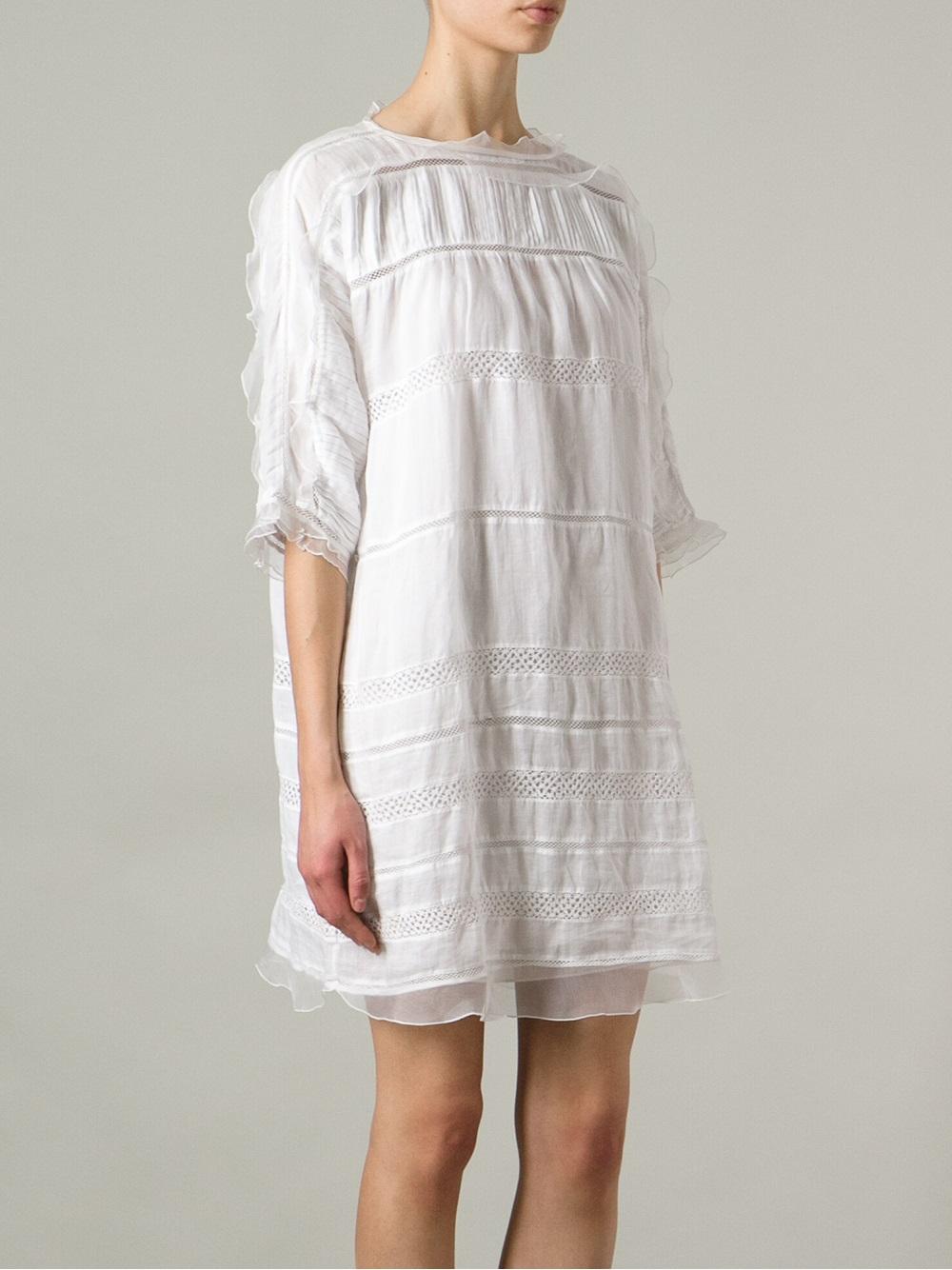 Lyst isabel marant odrys dress in white for Isabel marant shirt dress