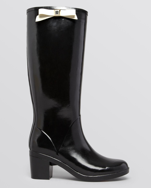 cbdaa022470f Lyst - Kate Spade Rain Boots - Romi Bow in Red