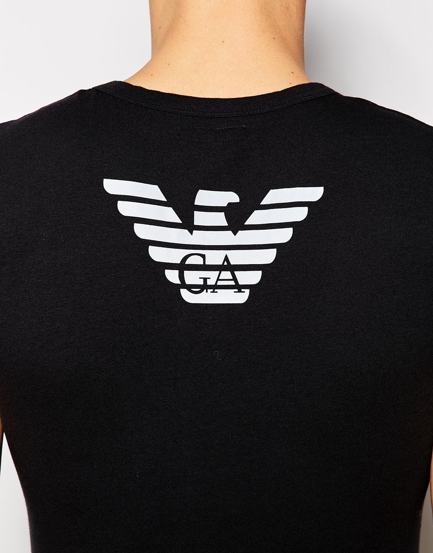 Lyst Emporio Armani Eagle Back Print T Shirt In Extreme