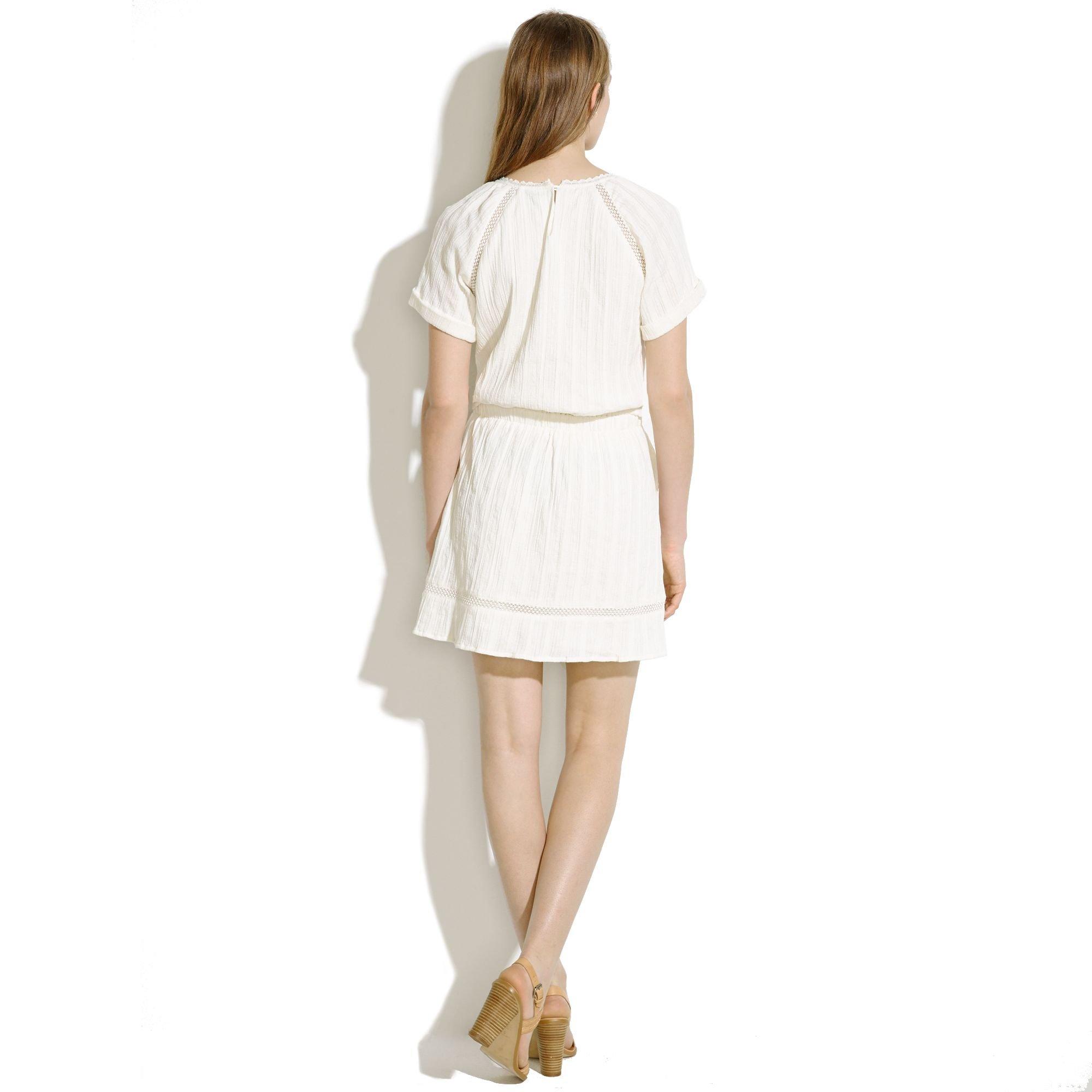 fb42b02089 Madewell Summerhouse Dress in White - Lyst