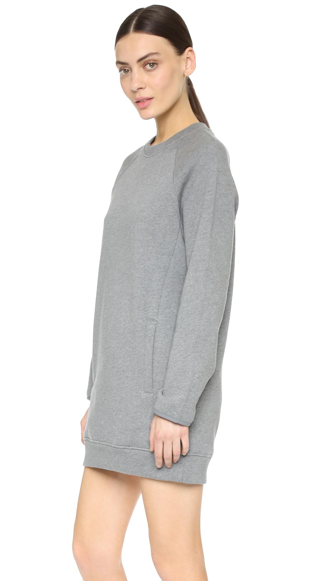 Lyst Acne Studios Fiera Sweatshirt Dress Dark Grey