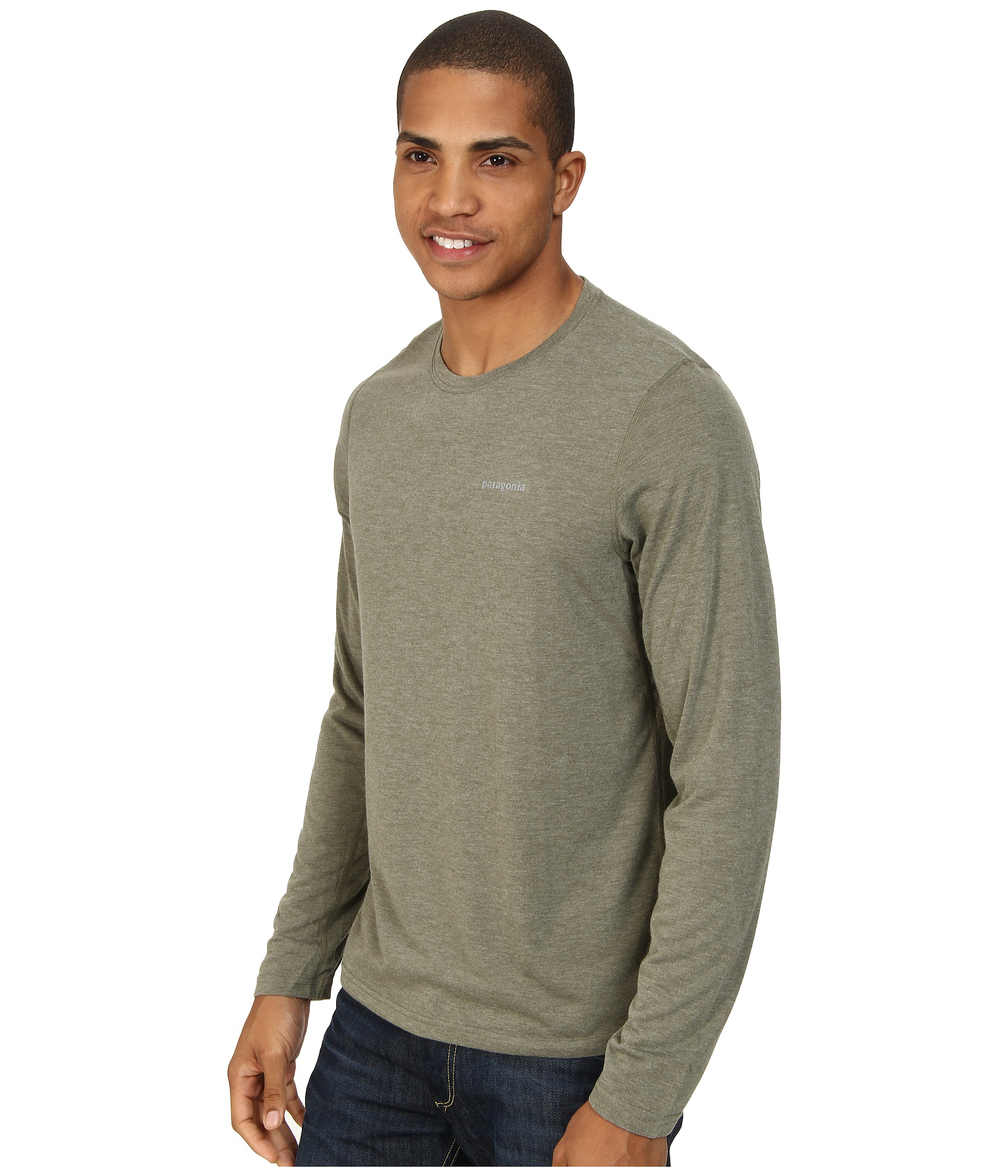 64f0222fc54a Patagonia L/s Nine Trails Shirt in Green for Men - Lyst