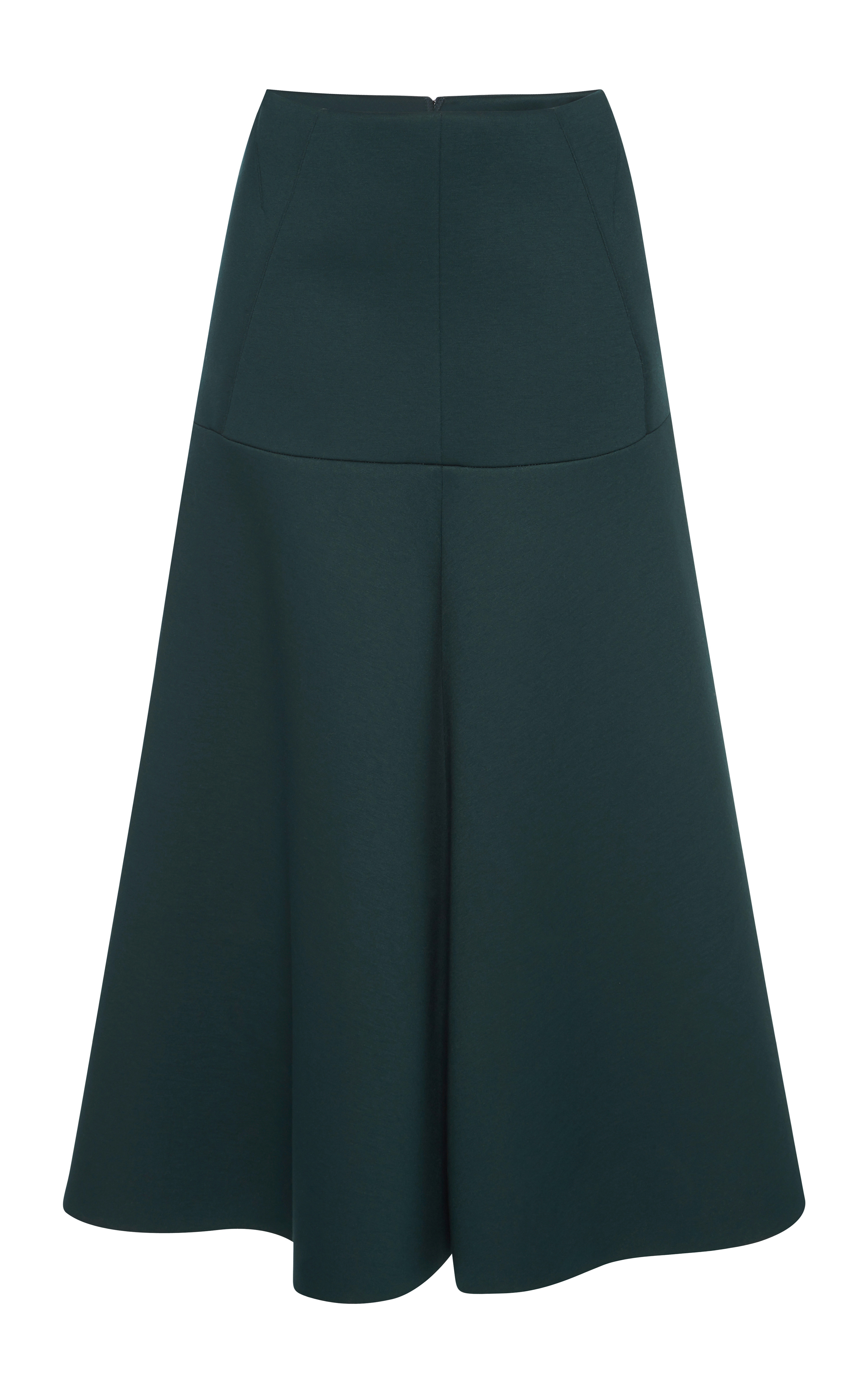 Marni Dark Green Bonded Jersey Long Skirt in Green | Lyst