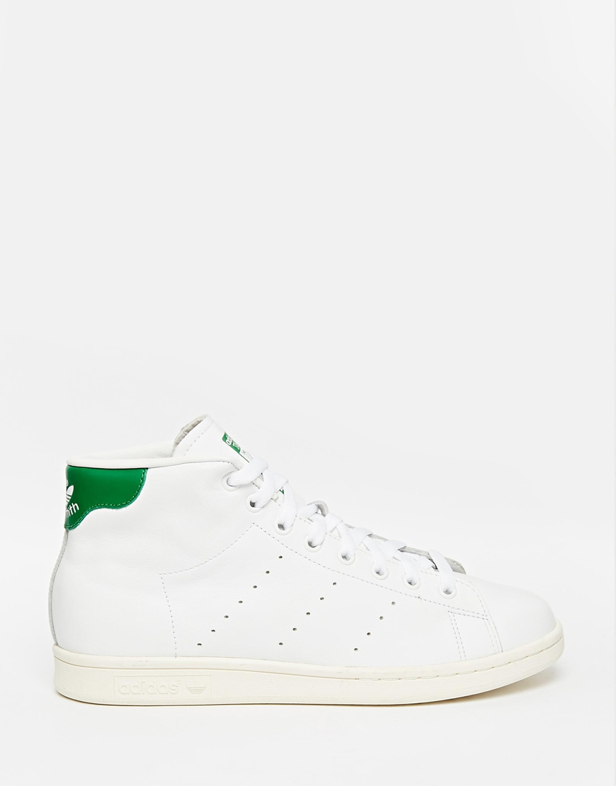 0fc4d80413b Lyst - adidas Originals Stan Smith Mid Trainers B24538 in White for Men
