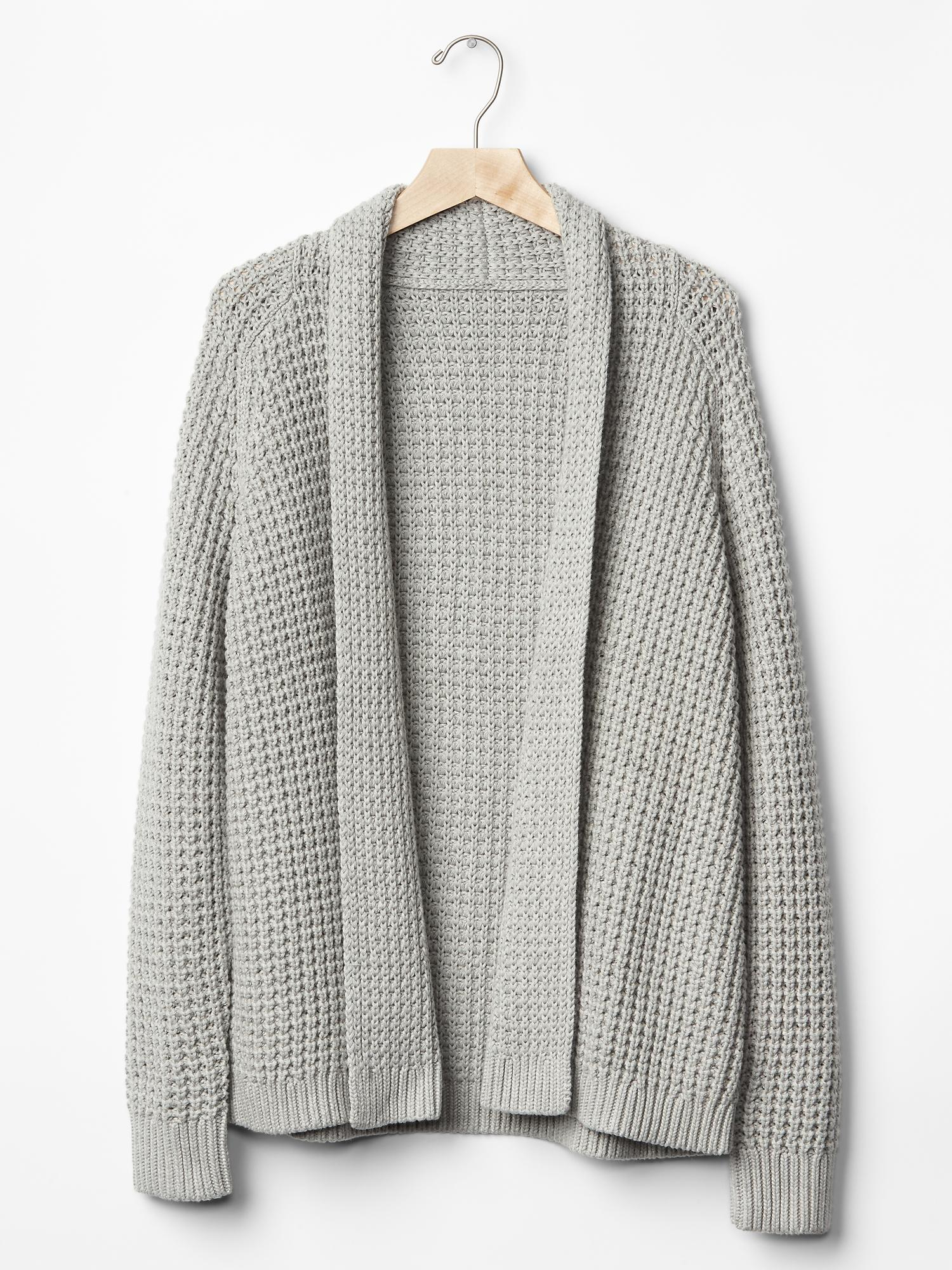 Gap Chunky Knit Open-Front Cardigan In Heather Grey -4645