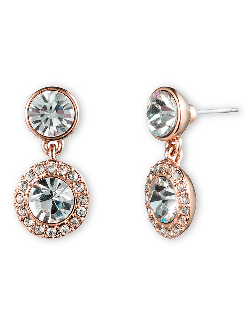 givenchy swarovski pave drop earrings in pink lyst