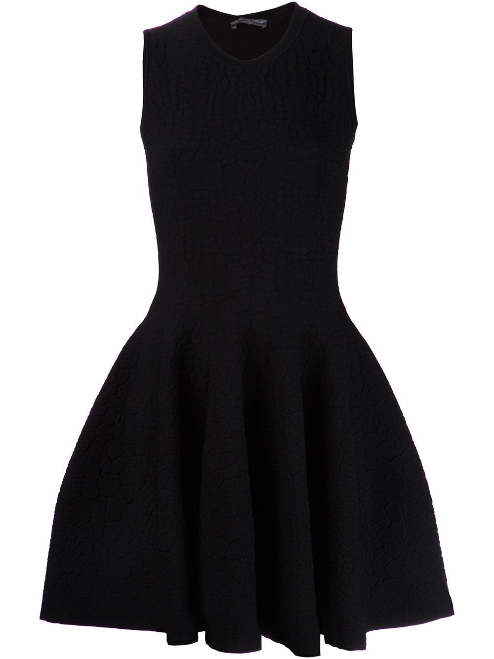 Lyst Alexander Mcqueen Pleated Dress In Black