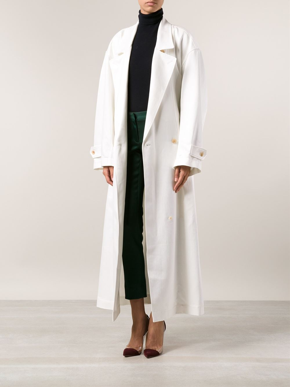 Beautiful Creatures Of The Wind U0027Cameliau0027 Floor Length Coat In White | Lyst