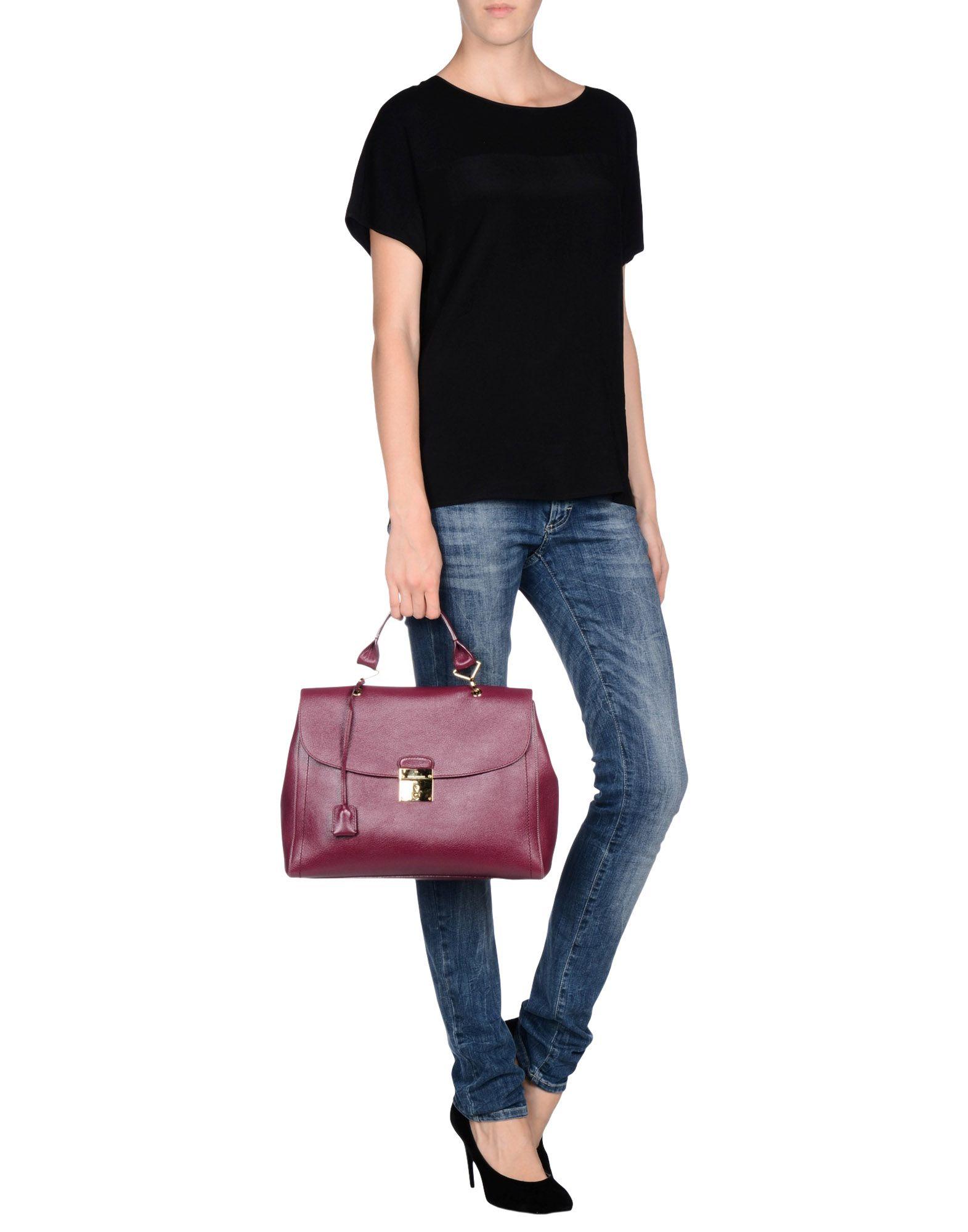 lyst marc jacobs handbag in purple. Black Bedroom Furniture Sets. Home Design Ideas