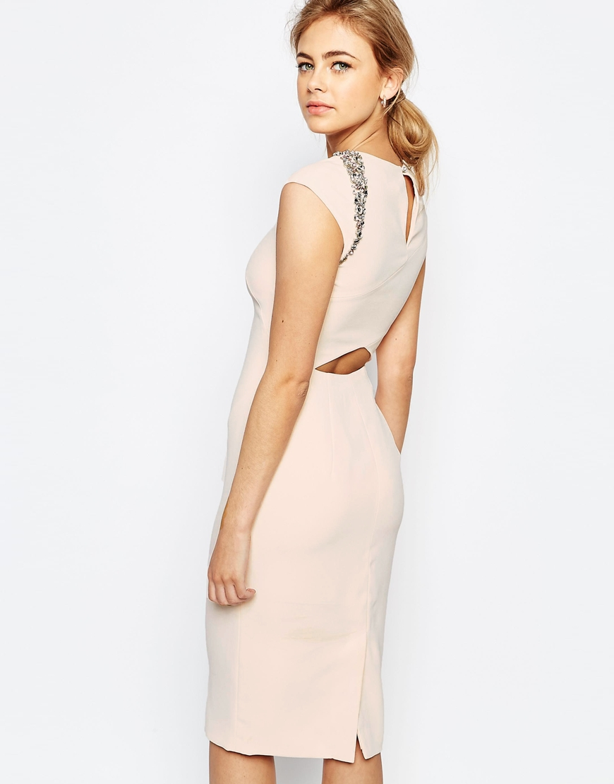 Lyst - Ted Baker Cut Out Back Detail Dress - Baby-pink in Pink d4d920d9d