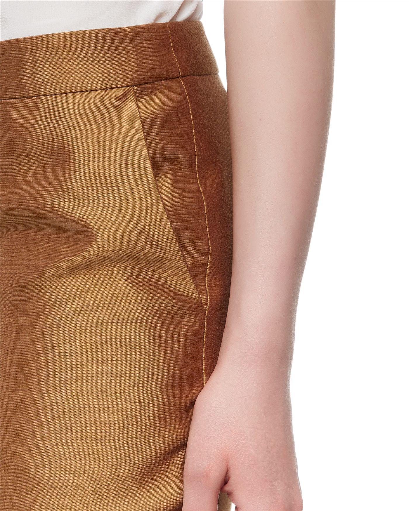 Jaeger Silk Cotton Capri Trousers in Metallic | Lyst