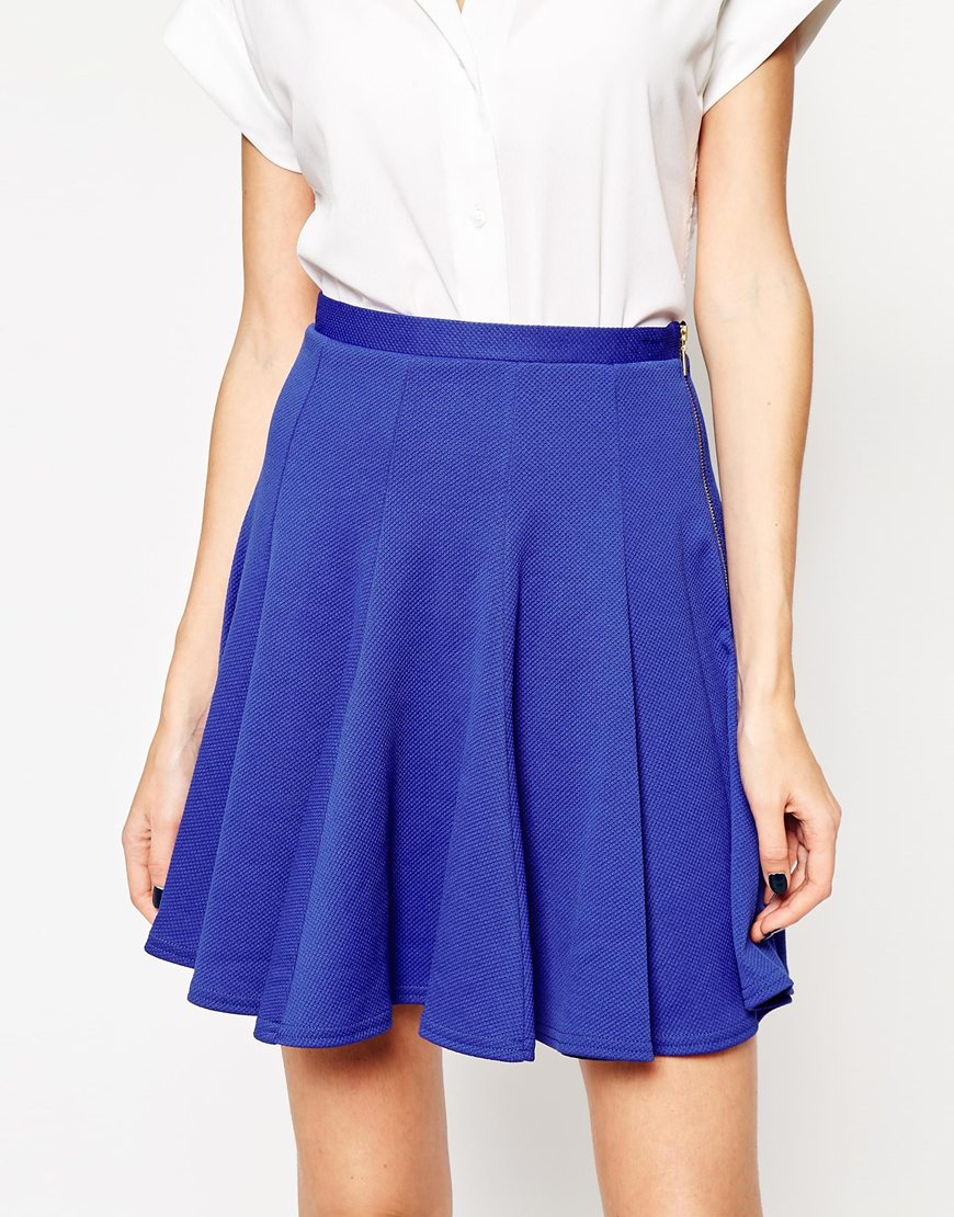 closet flared skirt with panelling in blue cobalt lyst