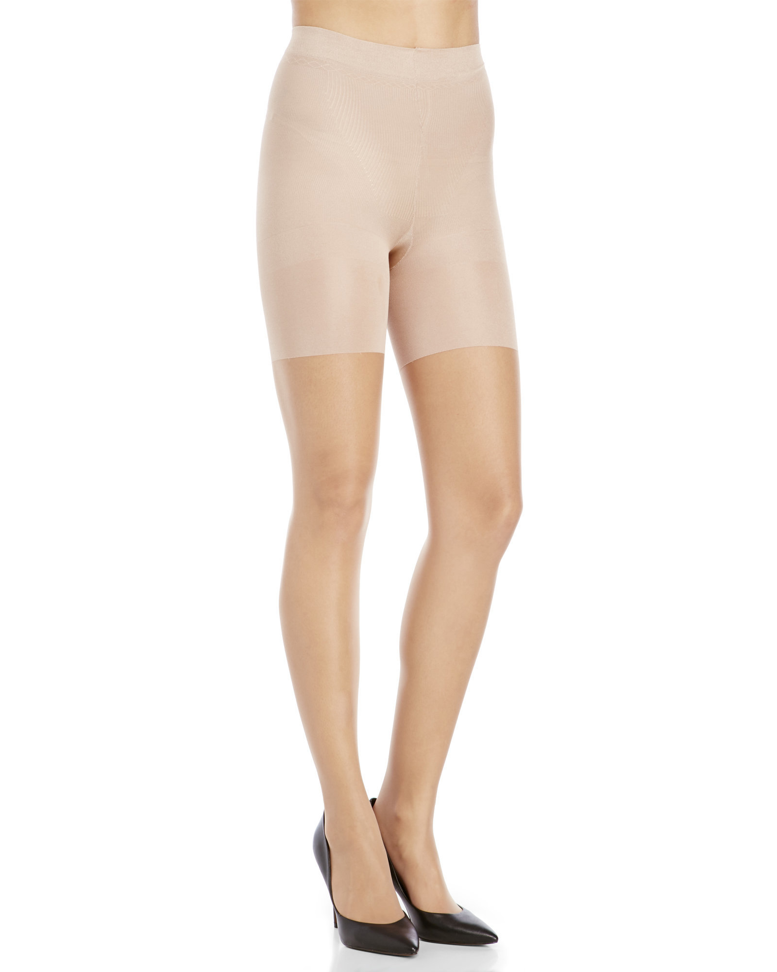 4a9206e9982 Spanx Super Control Top Sheer Tights in Natural - Lyst