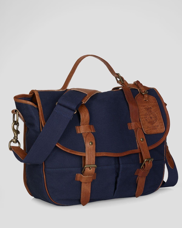 0a2b5ccf6a Lyst - Polo Ralph Lauren Canvas Messenger Bag in Blue for Men