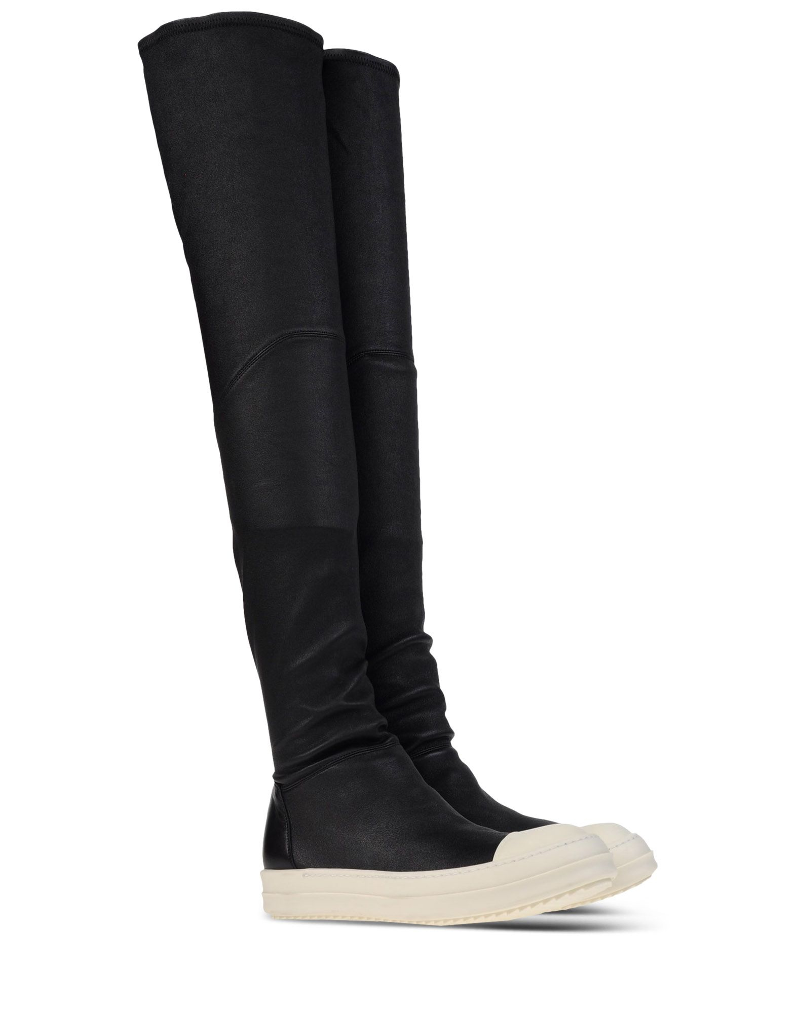 rick owens over the knee leather boots in black lyst. Black Bedroom Furniture Sets. Home Design Ideas