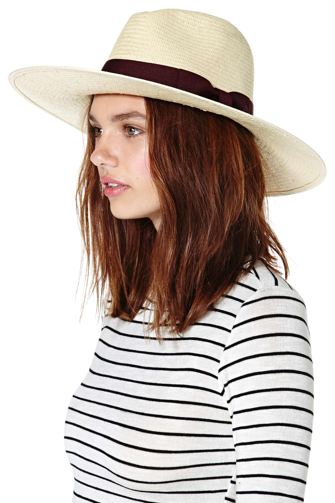 Lyst - Nasty Gal Jordan Panama Hat in Natural 1eeec8cb8a74