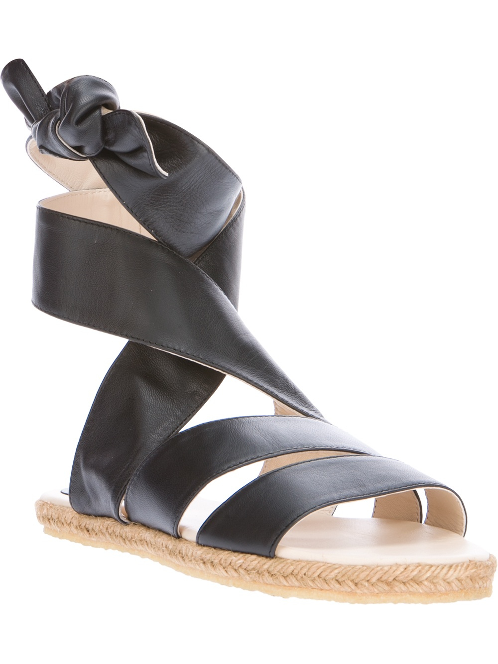 Black ribbon sandals - Gallery