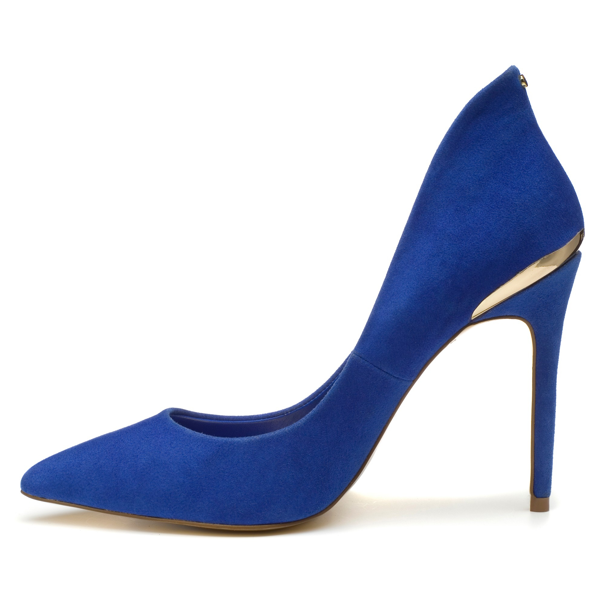 7935e8aa0e18f5 Ted Baker Savenniers Suede High Heeled Court Shoes in Blue - Lyst