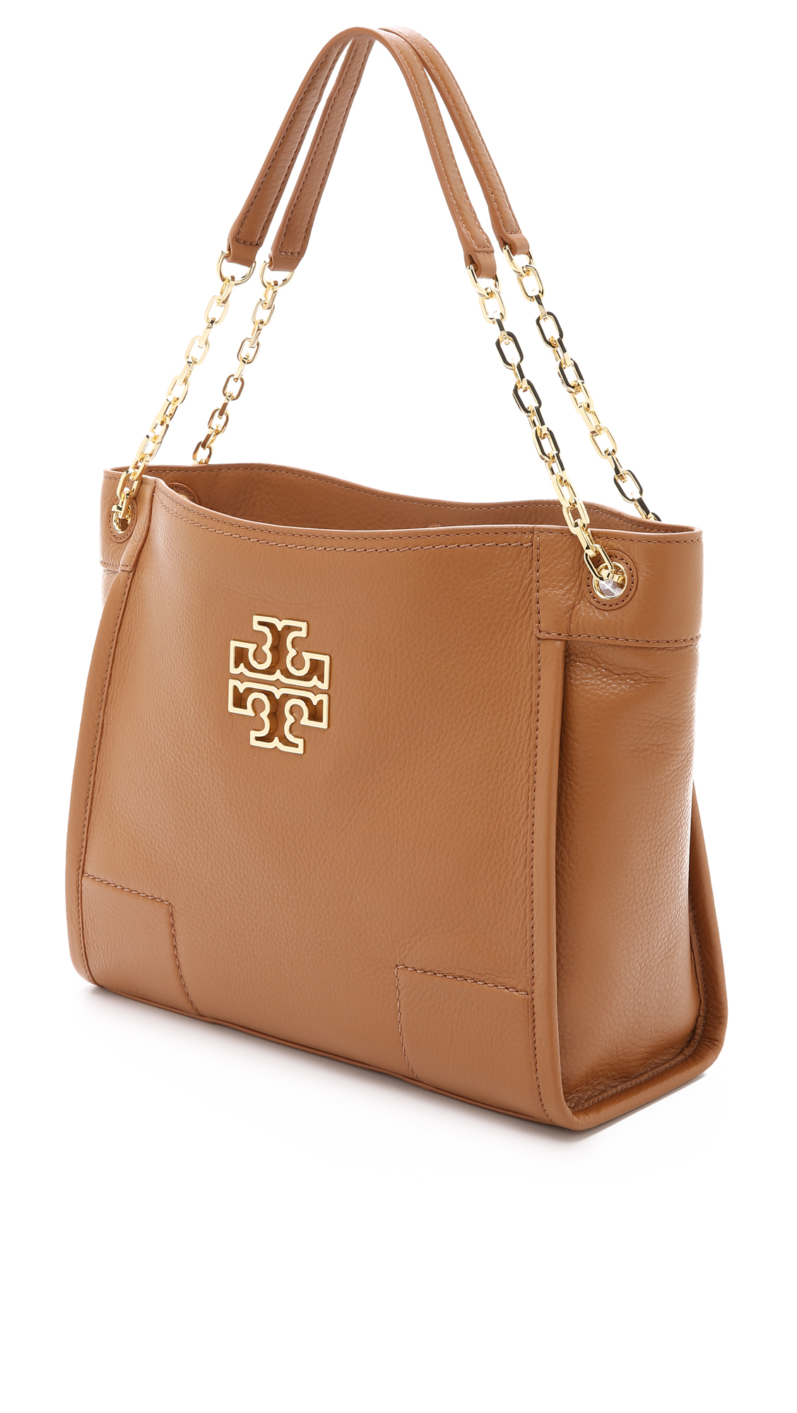 3127c7d7a45c ... free shipping lyst tory burch britten small slouchy tote bark in brown  f00e5 d2706
