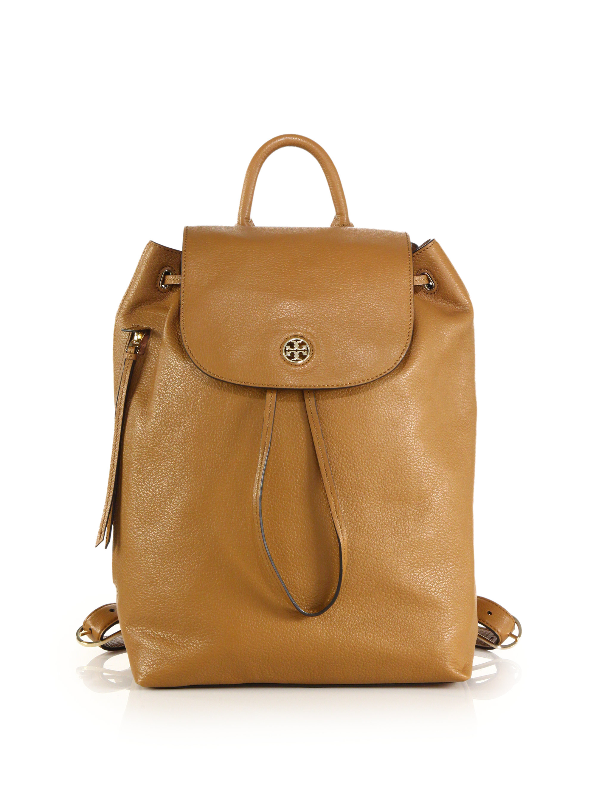 dad27a0b4a85 Lyst - Tory Burch Brody Leather Backpack in Natural