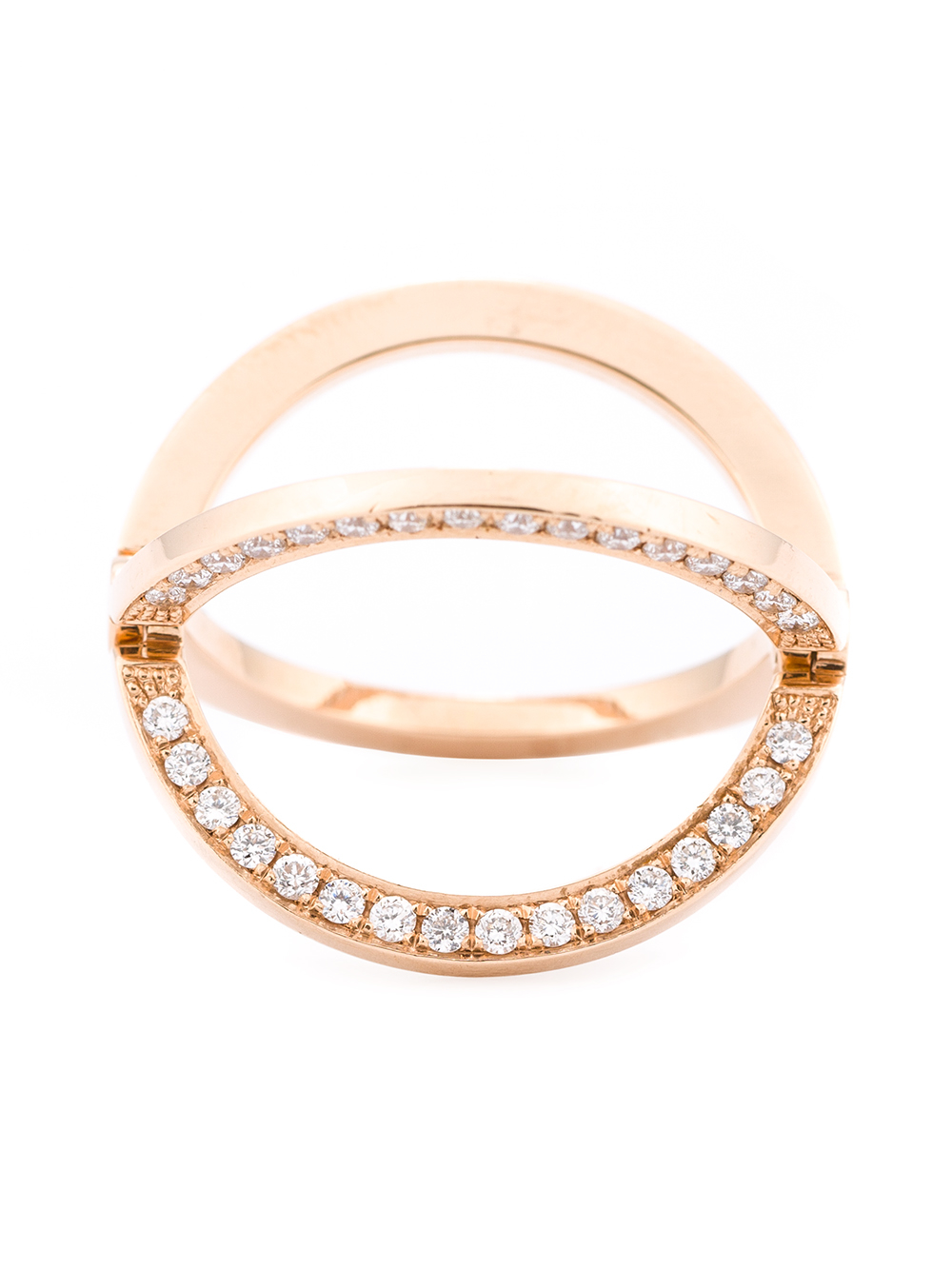 Kim Mee Hye Twisted Gold and Diamond Ring - Pink & Purple dYHwJDyaQm