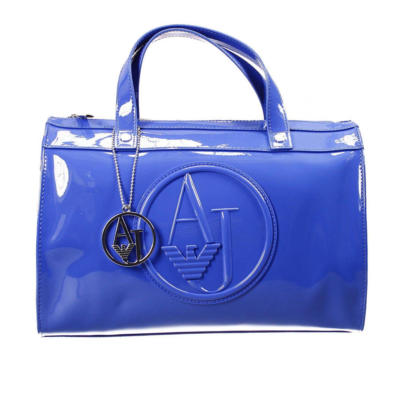 06bcdac49628 Lyst - Giorgio Armani Handbag Trunk Bag Patent Leather 31X25X16 Cm ...