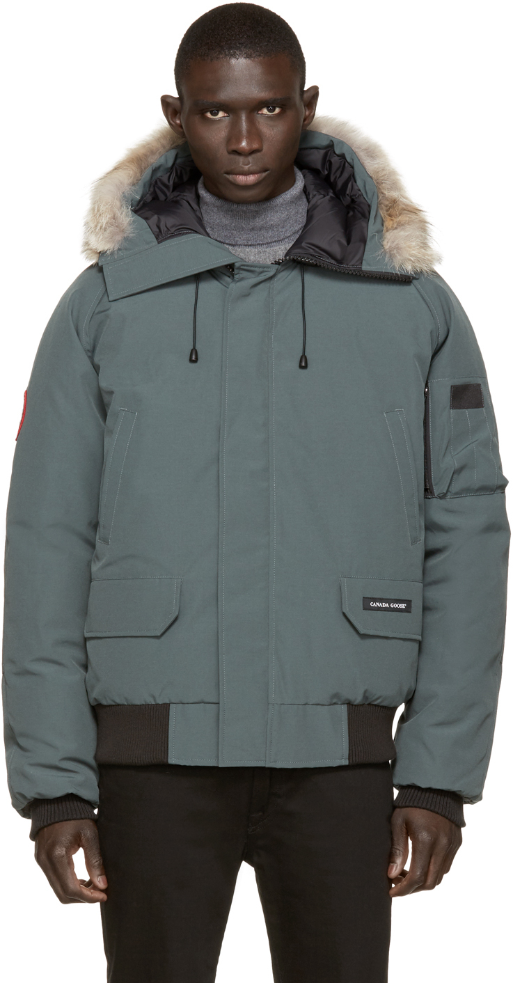 Canada Goose hats replica cheap - Canada goose Green Down & Fur Chilliwack Bomber in Green for Men ...
