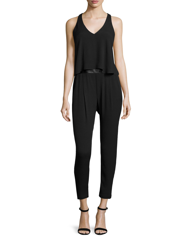 f49a236b588f Lyst - Ella Moss Sleeveless Strappy-back Jumpsuit in Black