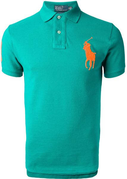 polo ralph lauren classic polo shirt in green for men lyst. Black Bedroom Furniture Sets. Home Design Ideas