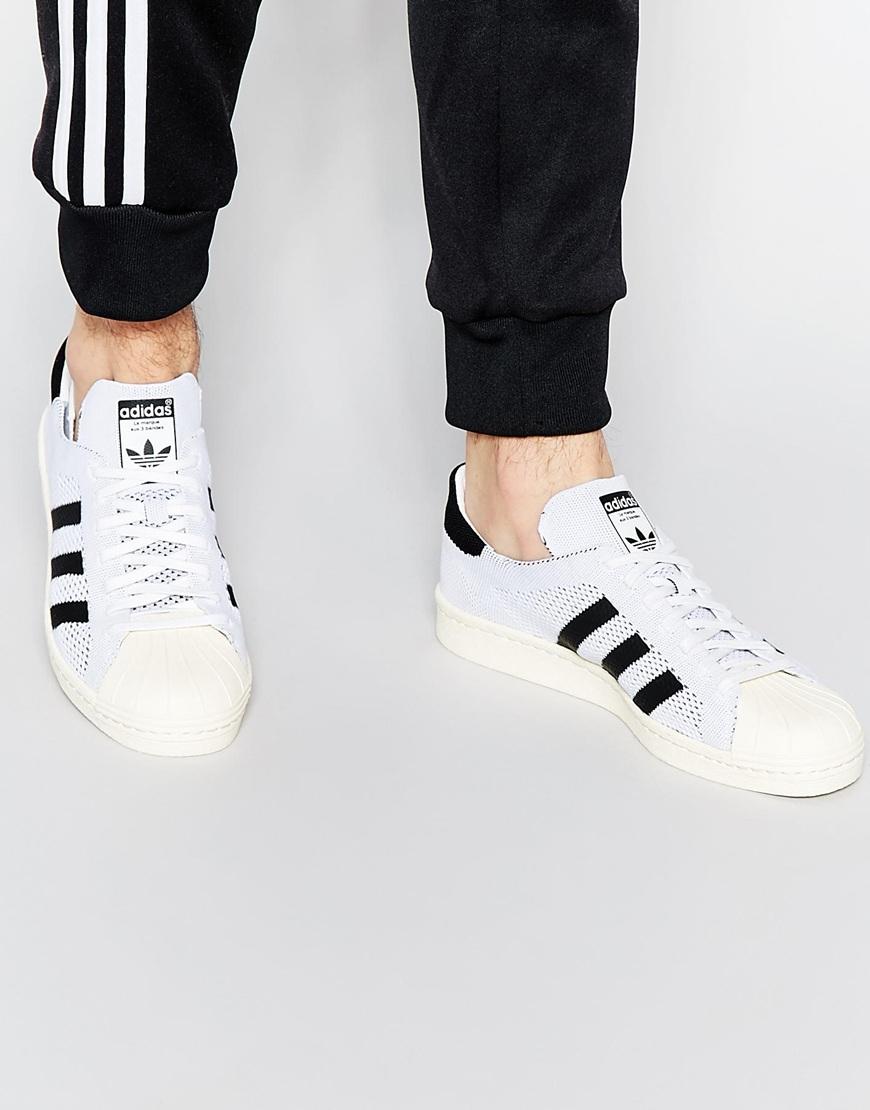 Adidas Originals Originals Top Ten Hi High Top Sneaker In: Adidas Originals Superstar 80s Primeknit Trainers