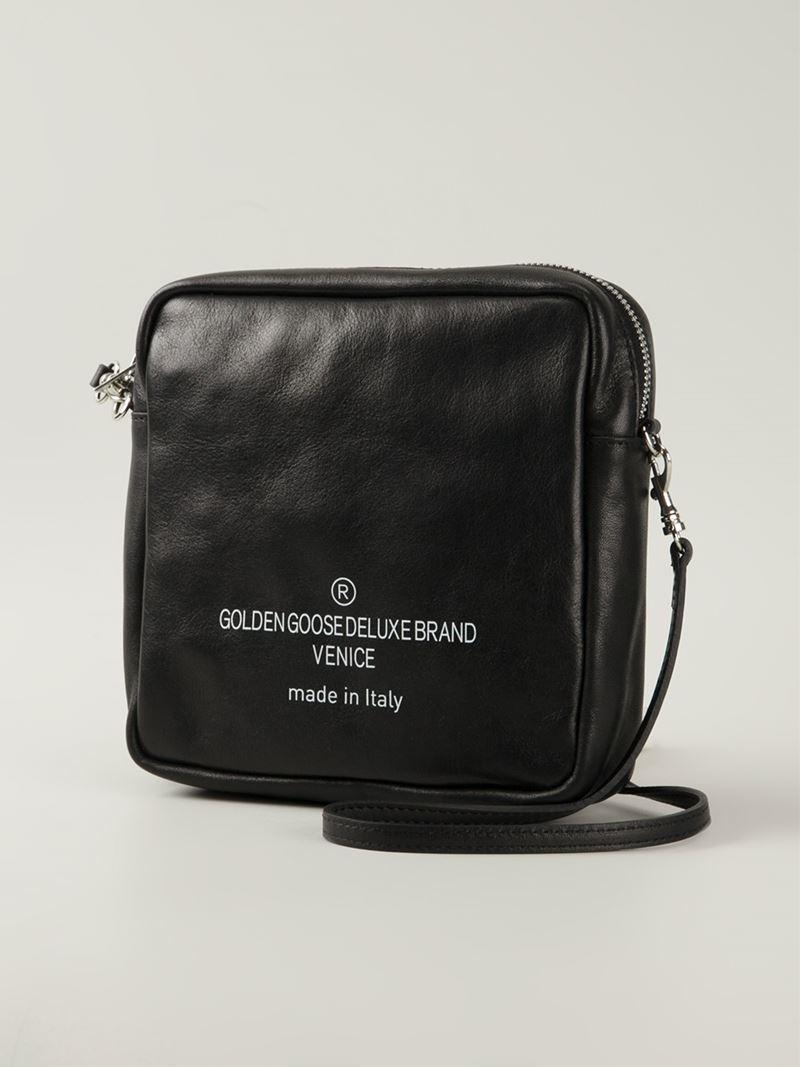 Golden goose deluxe brand Square Leather Shoulder Bag in Black | Lyst