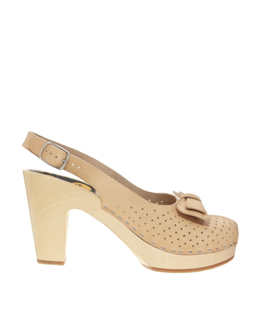 Lyst Swedish Hasbeens Mimmi Heeled Shoe In Natural