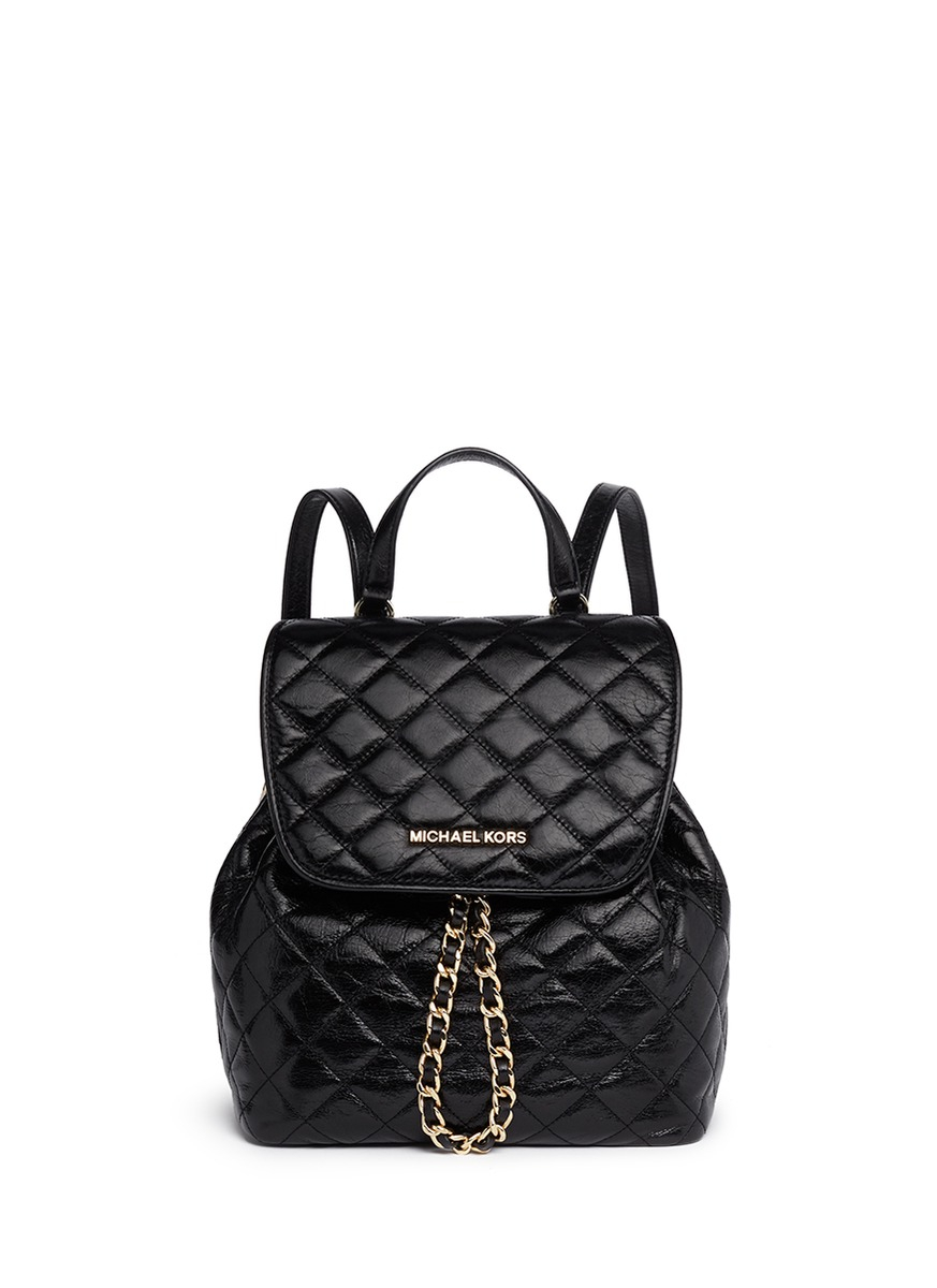 michael michael kors 39 susannah 39 quilted leather backpack. Black Bedroom Furniture Sets. Home Design Ideas