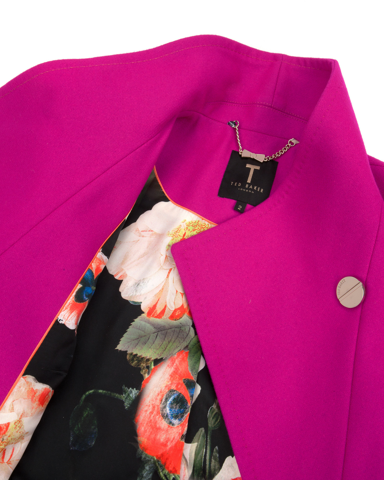 c5539d1d2ebd24 Lyst - Ted Baker Belted Wrap Coat in Pink
