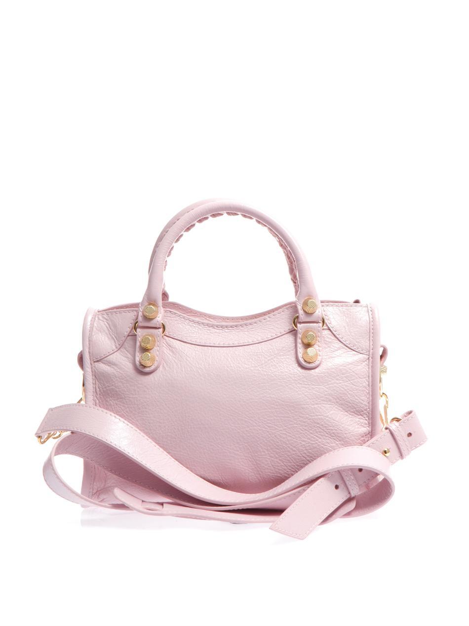 Balenciaga Giant Mini City Bag In Pink Lyst