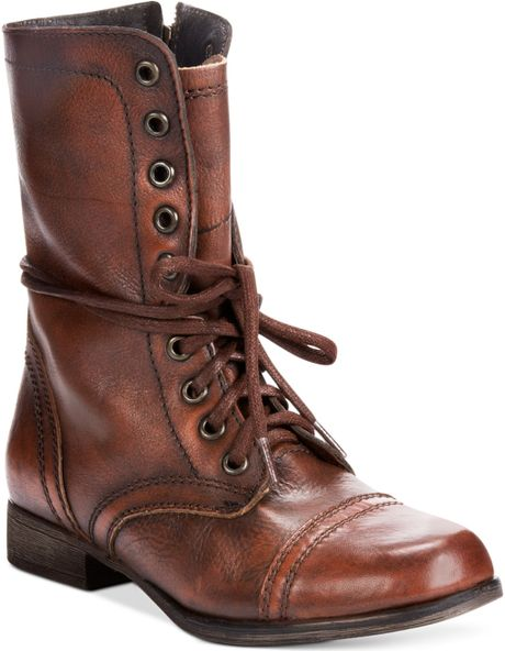 steve madden s troopa boots in brown lyst
