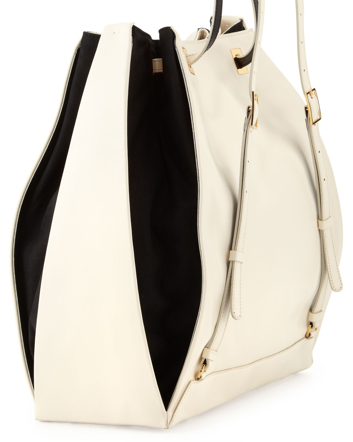stella mccartney two toned faux leather backpack in black lyst. Black Bedroom Furniture Sets. Home Design Ideas
