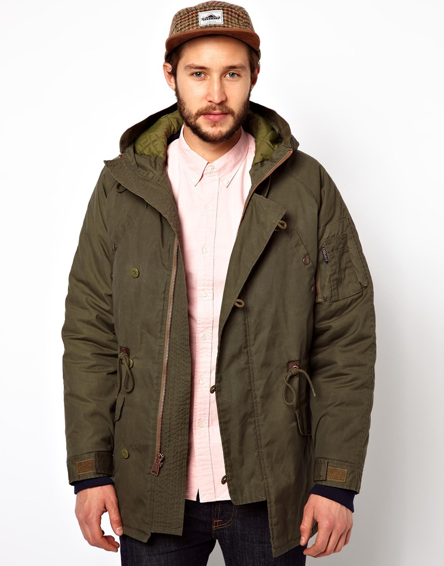 Penfield Paxton Waxed Parka in Green for Men | Lyst