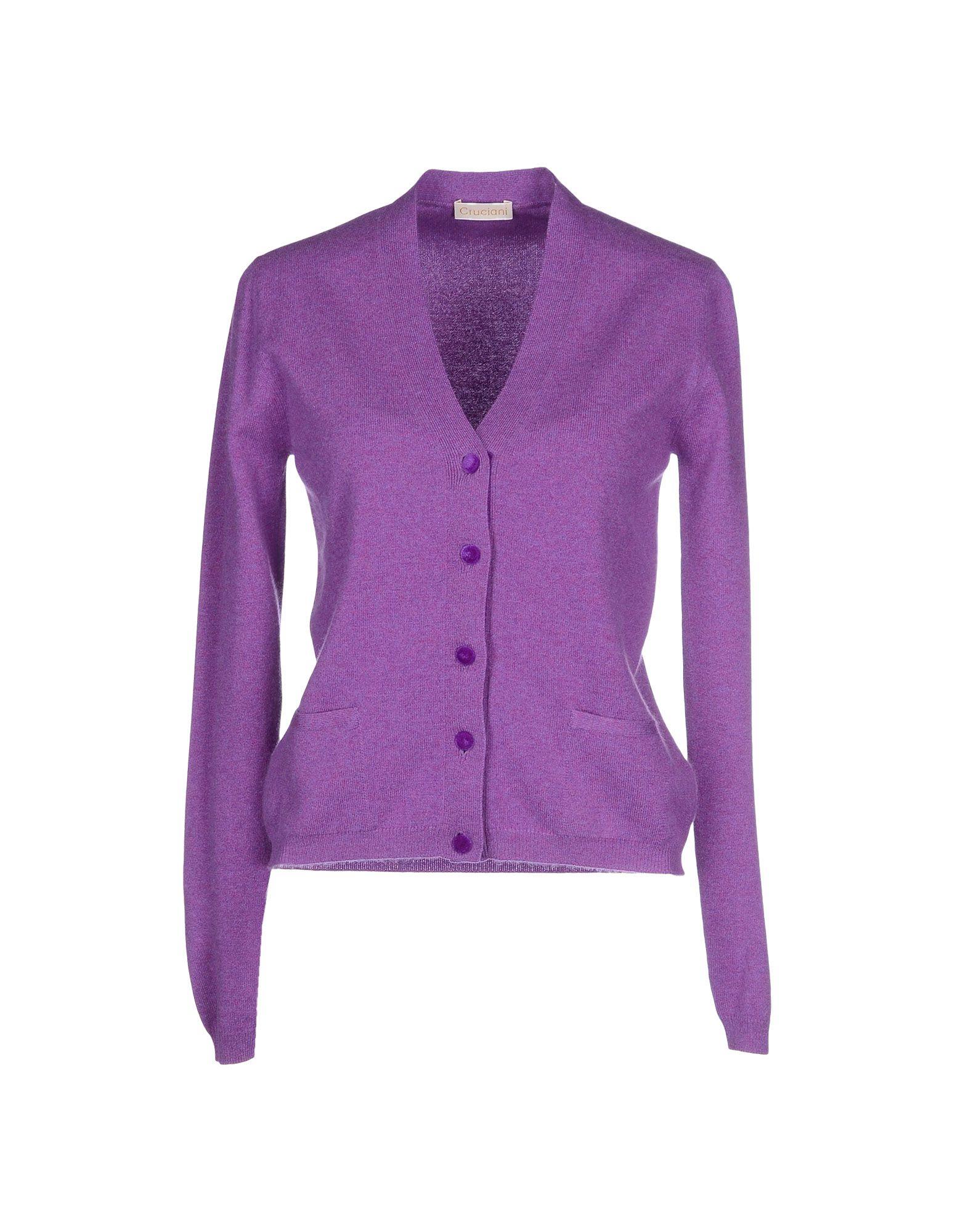 Lyst - Cruciani Cardigan in Purple