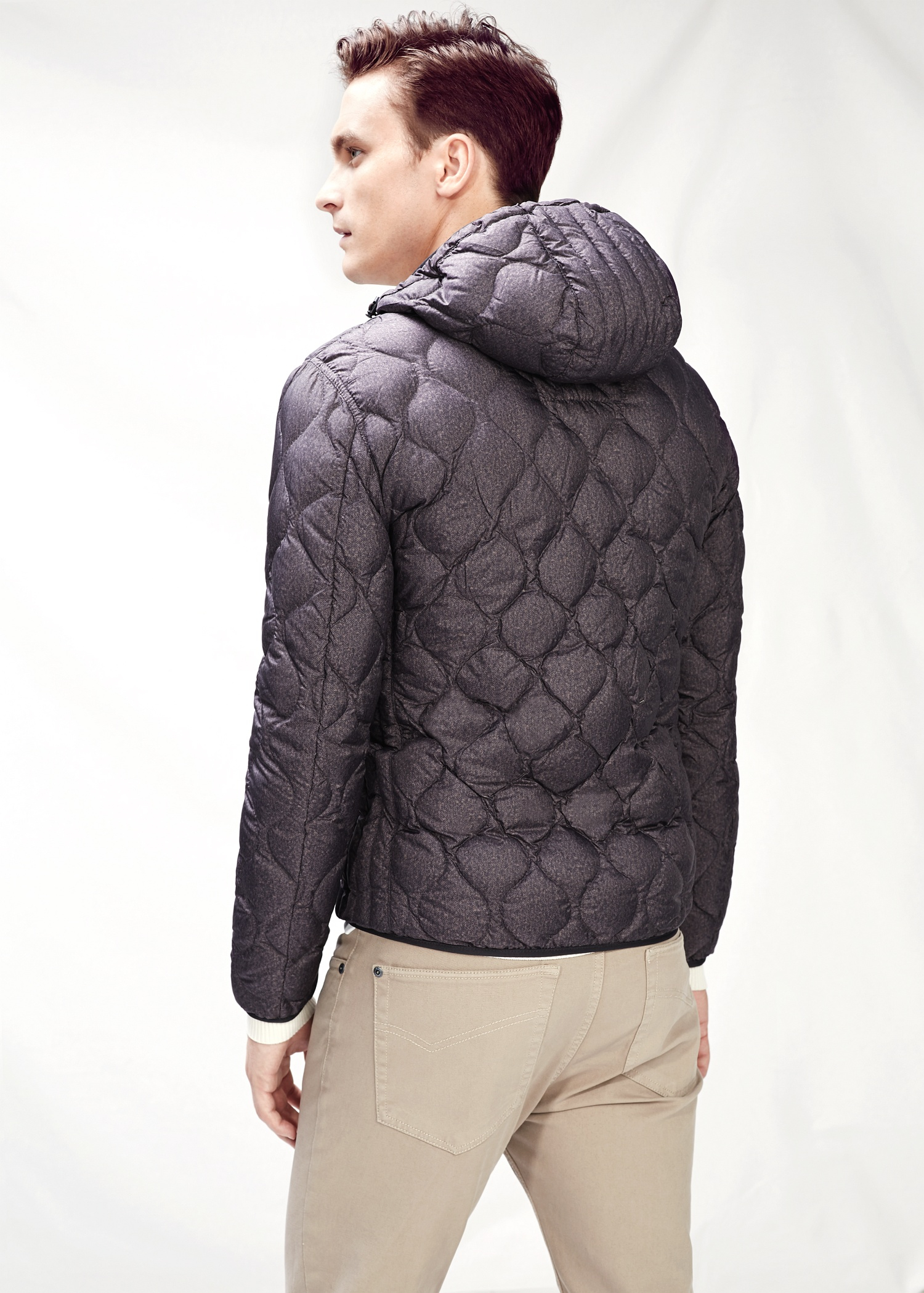 Mango Lightweight Feather Down Jacket in Brown for Men | Lyst