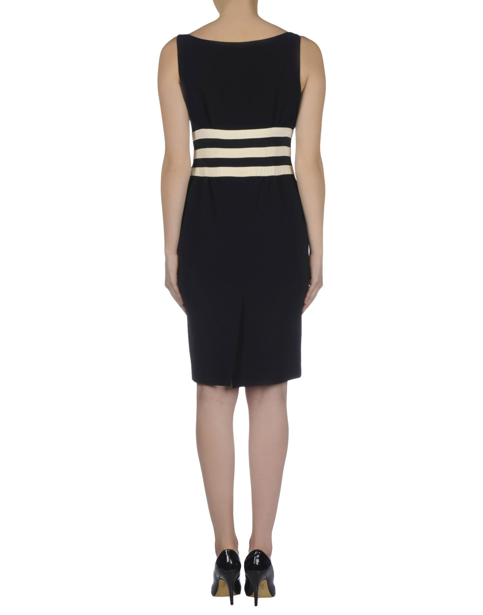 Moschino knee length dress in black lyst