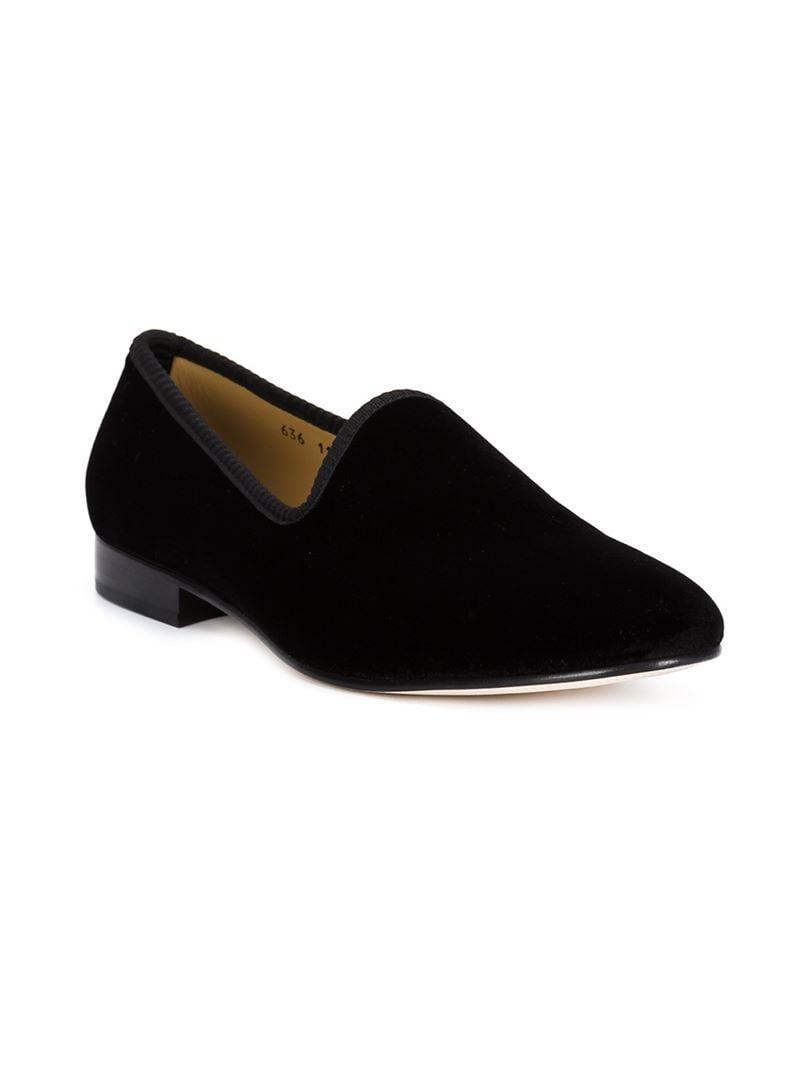 toro velvet slippers in black for lyst