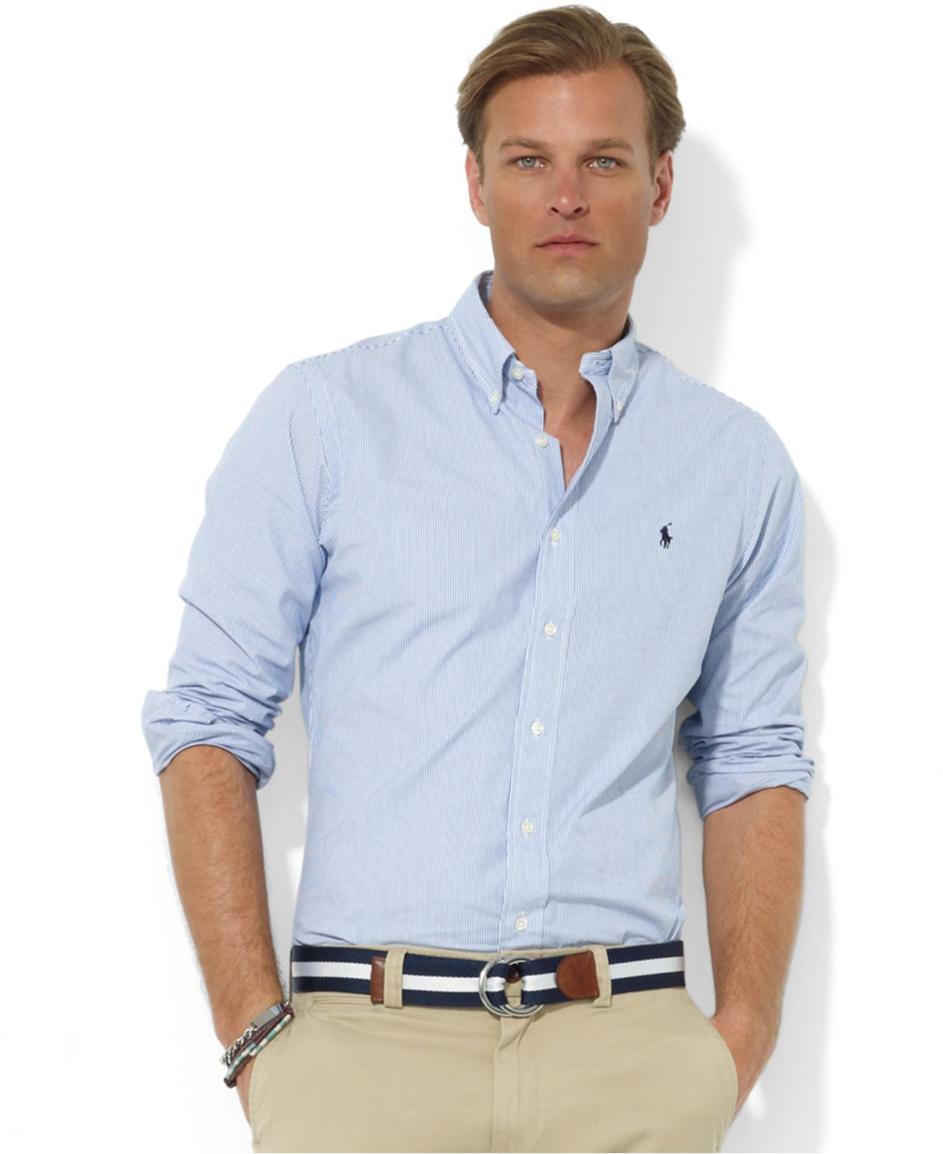 c362c18b9 Polo Ralph Lauren Core Custom Fit Broadcloath Dress Shirt in Blue ...